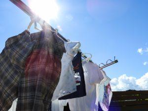 男性の洗濯物