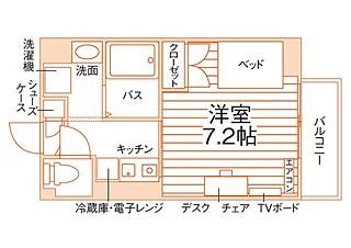 (仮称)新潟大学正門前学生会館の間取り一例