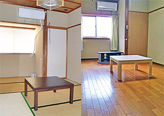 いのつめ荘の居室(和室・洋室)